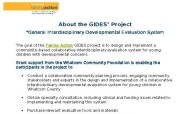 General Interdisciplinary Developmental Evaluation System (GIDES)