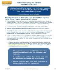 Medicaid Coverage for HospitalizedChildren