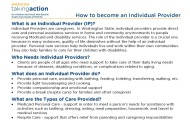 How to become an Individual Provider