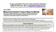 Whatcom County Child Health Notes–Down Syndrome