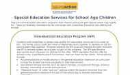 School Services for Children Over Five