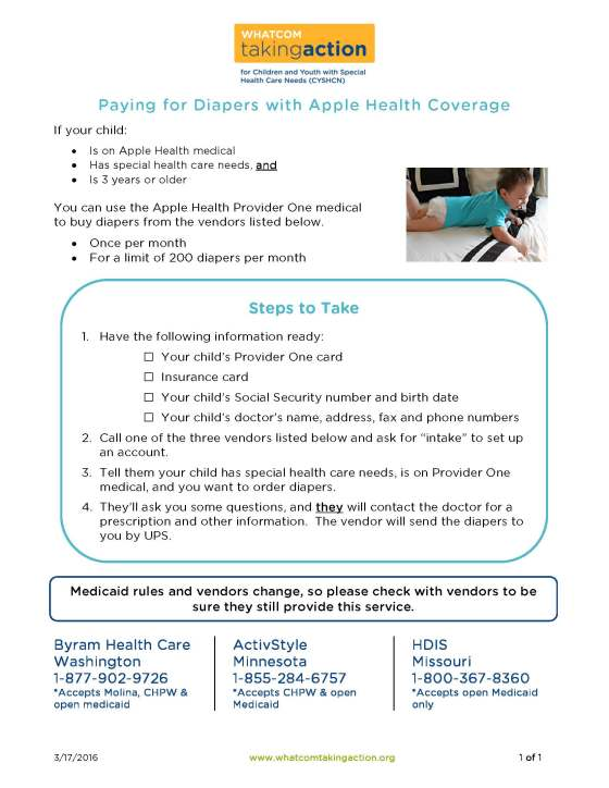 Medicaid Paying for Diapers  2016-03-17