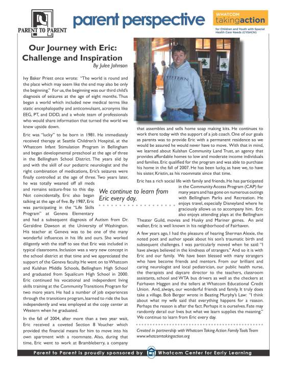 Our Journey with Eric 2016-03-22