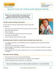 Special Care for Infants with Special Needs