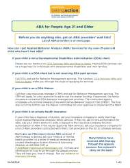 ABA for People Age 21 and Older
