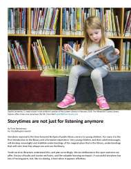 New Storytimes at Whatcom County Libraries Focus on Learning Specific Skills