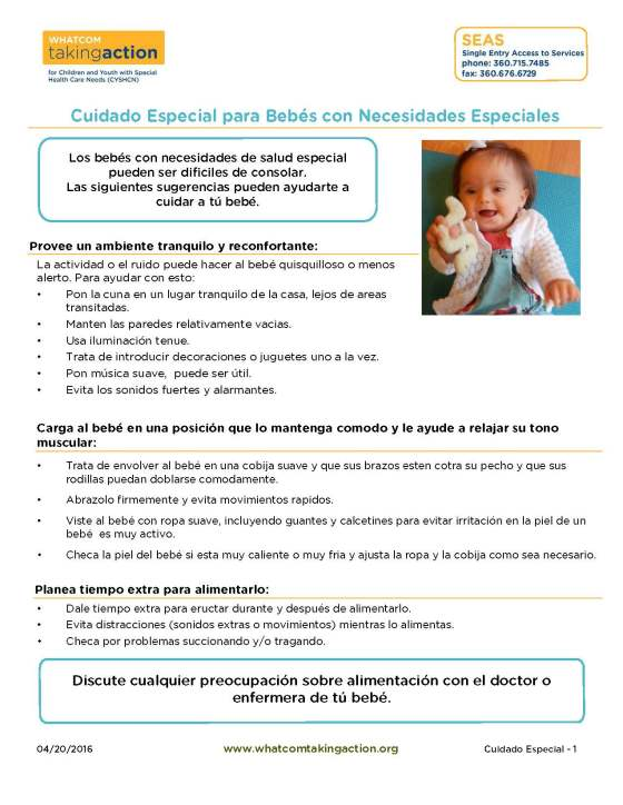 Special Care - Infants with Special Needs (Spanish) 2016-04-20_Page_1