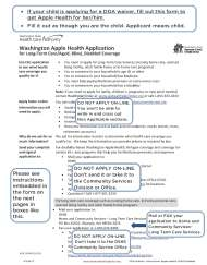 DDA Waiver – Apple Health for Child Application Instructions