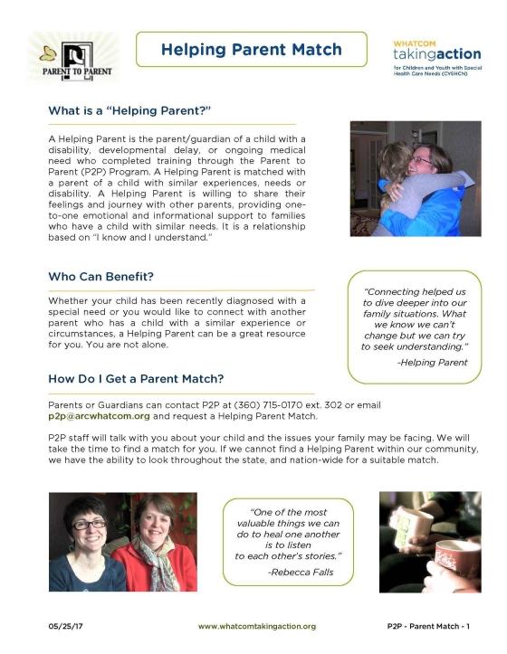 P2P Helping Parent Match 2017-05-25